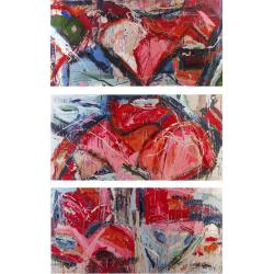 Flesh Tones triptych